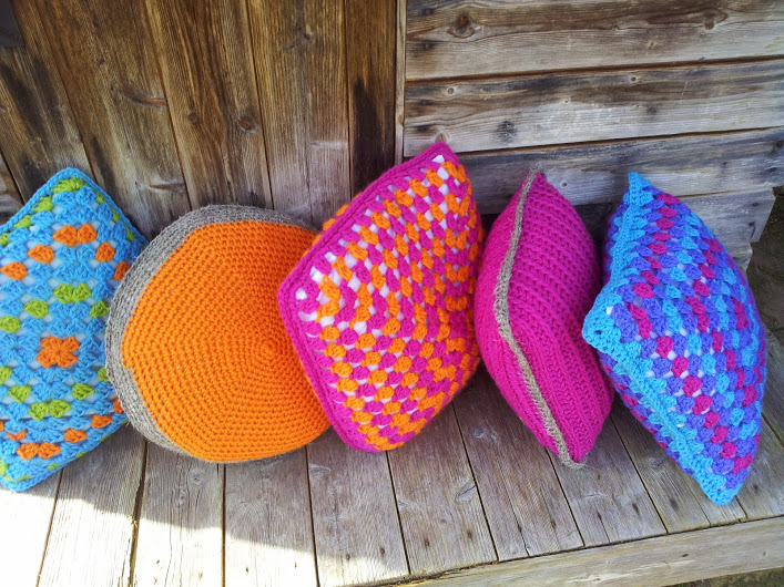 Herdy wool cushions, made using British wool and trimmed with Cumbrian Herdwick