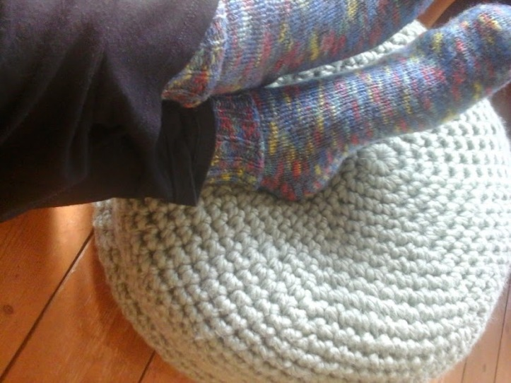 crochet pouffe image 2