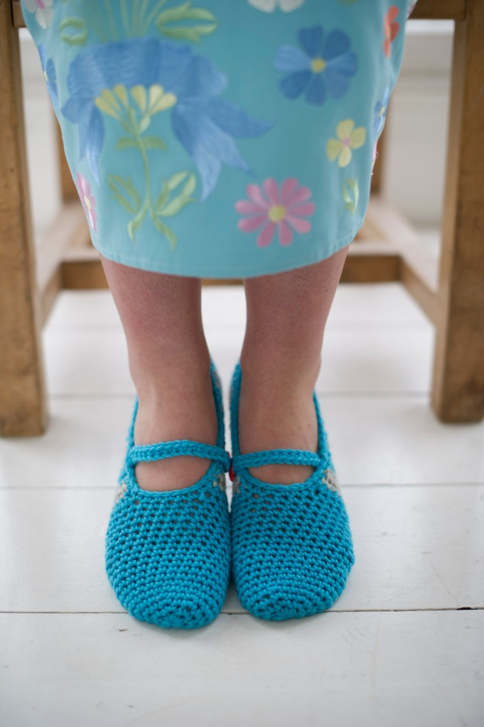 Toe up slippers, with Mary Jane detailing (photo credit: Immediate Media)