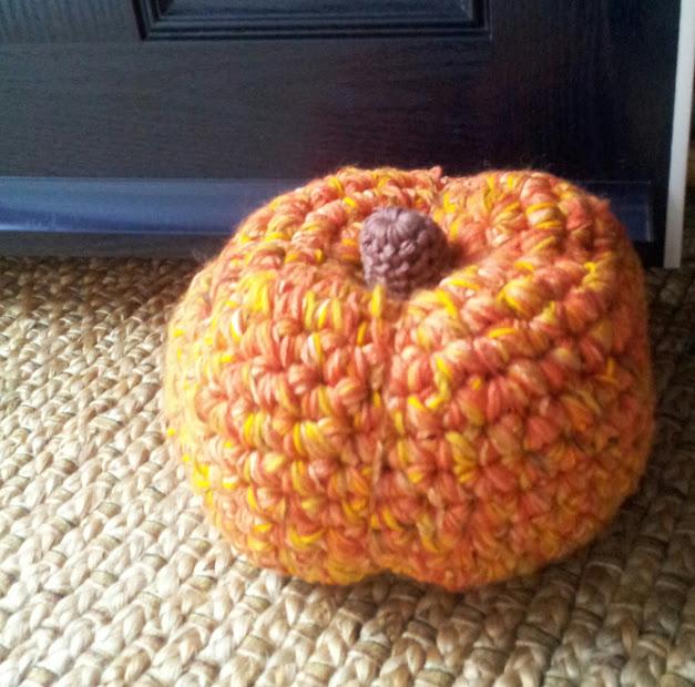 pumpkin doorstop