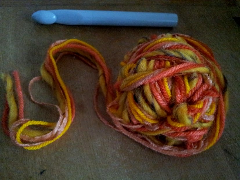 wool and hook