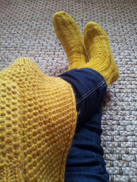 Aran weight boot socks